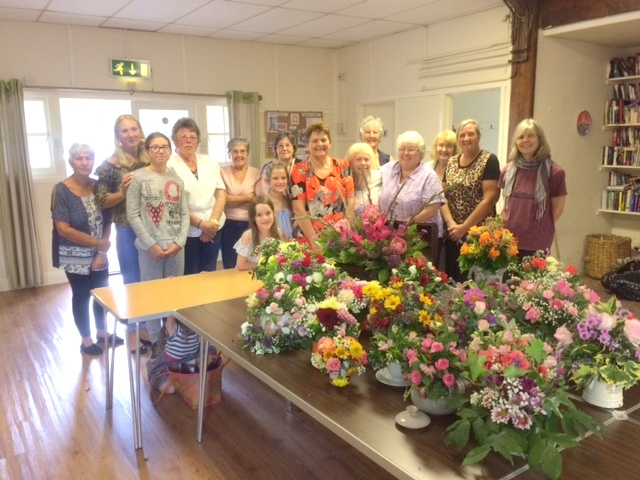 <p><br>	Young and not-so-young - 2019 more practice and learning in the village hall. The creative and artistic work of the flower arrangers of Great Oakley, and the wider world, is always greatly appreciated.  Thanks to all of you for brightening up our lives. Well done!</p><br>