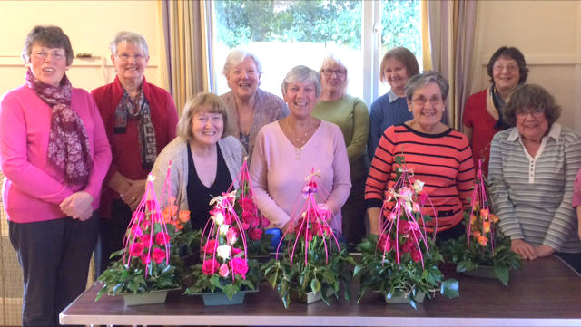 <p><br>	Great Oakley enjoys some wonderful examples of&nbsp;flower arrangement, particularly in the Parish Church, provided by skilled arrangers - some of these artistic ladies are shown in this photograph.</p><br>